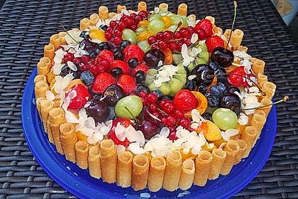 Quarkkuchen vom Blech mit Früchten 1