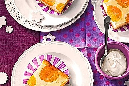 Quarkkuchen vom Blech mit Früchten 5
