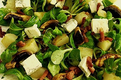 Birnen - Feldsalat mit Bacon und Gorgonzola 1