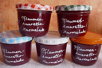 Pflaumen - Amaretto - Marmelade 1