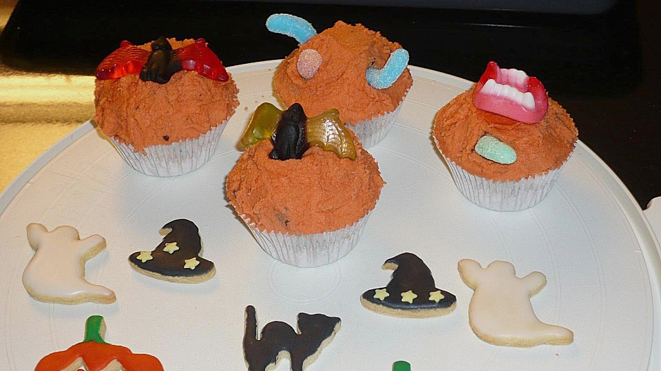 snap einfach halloween muffins dekorieren photos on pinterest. Black Bedroom Furniture Sets. Home Design Ideas