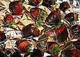 Erdbeeren im Schokomantel