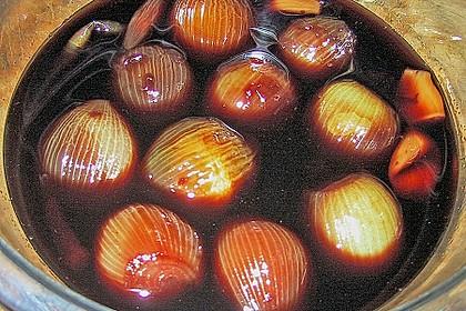 Zwiebeln in Rotwein eingelegt 3