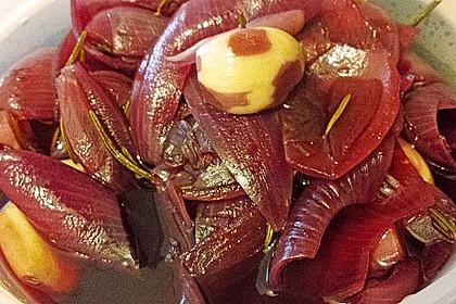 Zwiebeln in Rotwein eingelegt 1
