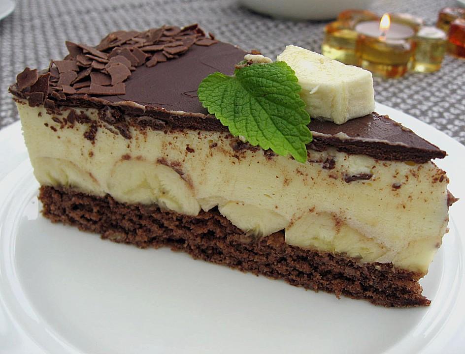 bananen schokolade torte rezept mit bild von sylv1802. Black Bedroom Furniture Sets. Home Design Ideas