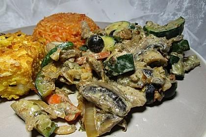 Griechische Gemüsepfanne (Bild)