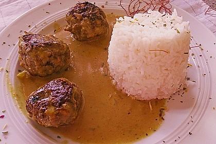Erdnuss - Hack - Bällchen in Currysauce 7