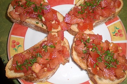 Bruschetta mit Tomaten und Knoblauch 44