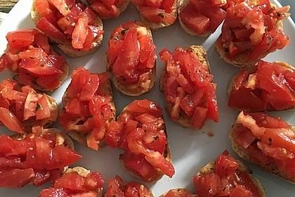 Bruschetta mit Tomaten und Knoblauch 17