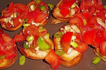 Bruschetta mit Tomaten und Knoblauch 37