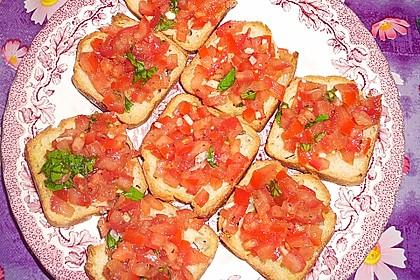 Bruschetta mit Tomaten und Knoblauch 42