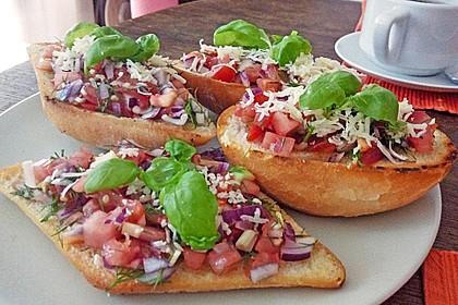 Bruschetta mit Tomaten und Knoblauch 28