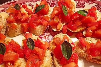 Bruschetta mit Tomaten und Knoblauch 31