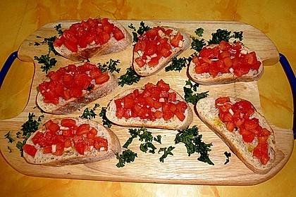 Bruschetta mit Tomaten und Knoblauch 10