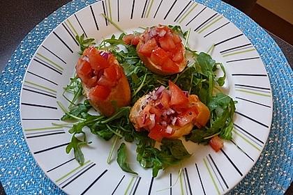 Bruschetta mit Tomaten und Knoblauch 7