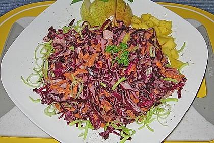 Birnen - Rotkohl Salat 2