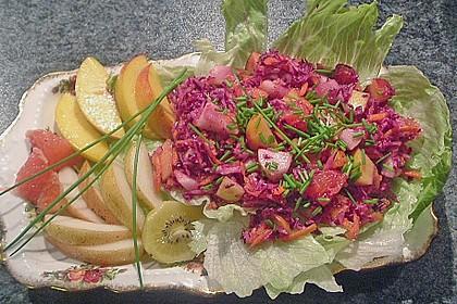 Birnen - Rotkohl Salat 1