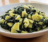 Kartoffeln mit Spinat indische Art