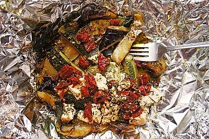 Auberginen-Zucchini-Fetapäckchen 13