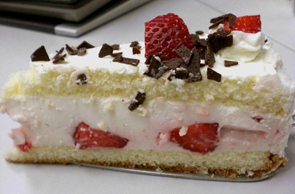 leichte erdbeer dickmilch torte rezept mit bild. Black Bedroom Furniture Sets. Home Design Ideas