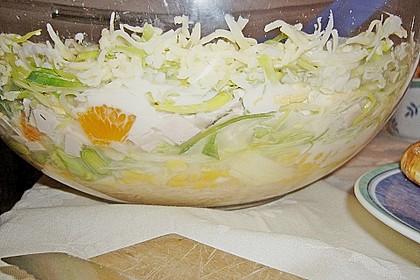 24 - Stunden - Schichtsalat mit Ananas und Mandarinen 6