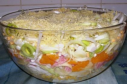 24 - Stunden - Schichtsalat mit Ananas und Mandarinen 4