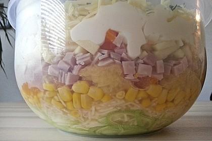 24 - Stunden - Schichtsalat mit Ananas und Mandarinen 2