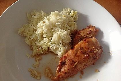 Scharfes Hähnchen mit Honig und Orangensaft 1