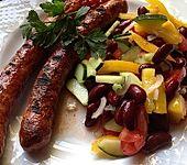 Roter Bohnensalat mit Tomaten und Paprika