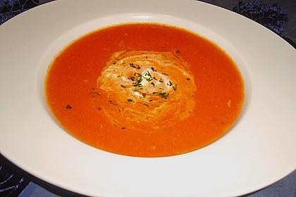 Tomatensuppe mit Gorgonzola 2