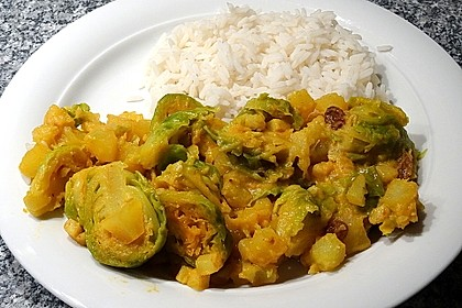 Rosenkohl-Curry