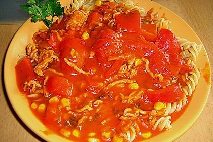Exotische Putenhackfleisch - Zucchini - Pfanne 3