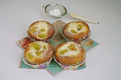 Rhabarber - Käsekuchen - Muffins 6