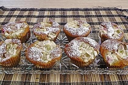 Rhabarber - Käsekuchen - Muffins 4