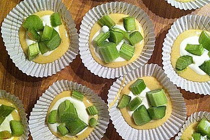 Rhabarber - Käsekuchen - Muffins 8