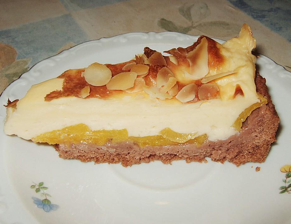 Apfel walnuss kuchen mit pudding