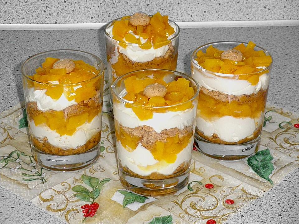 pfirsich cantuccini trifle rezept mit bild von bananacreampie. Black Bedroom Furniture Sets. Home Design Ideas