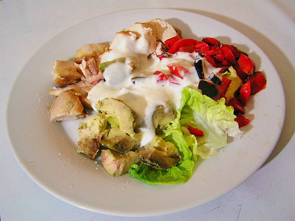 Salat avocado hahnchenbrust