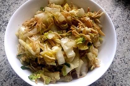 Chinakohlsalat mit Mie - Nudeln 1