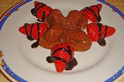Schokoladentörtchen mit flüssiger weißer Schokolade 15
