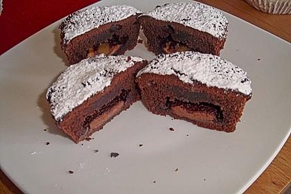 Schokoladentörtchen mit flüssiger weißer Schokolade 14