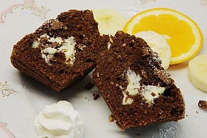 Schokoladentörtchen mit flüssiger weißer Schokolade 7