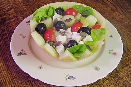 Melonen - Salat mit Schafskäse und Oliven