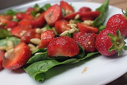 Erdbeer - Spinatsalat