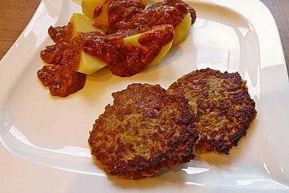 Grünkern - Gemüse - Bratlinge mit Zwetschgen - Ingwer Sauce