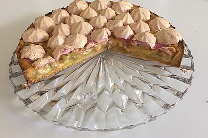 Rhabarberkuchen mit Baiser 50