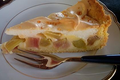 Rhabarberkuchen mit Baiser 8