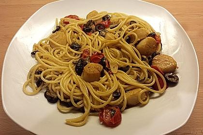 Scallops - Oliven - Spaghetti