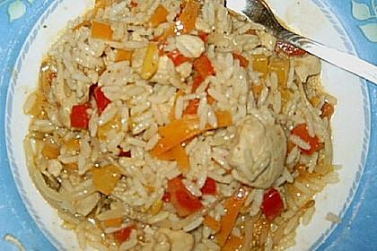 Chinapfanne mit Reis à la Kicky