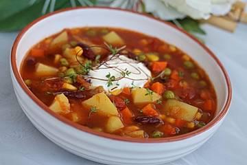 Mexikanische Gemüsesuppe